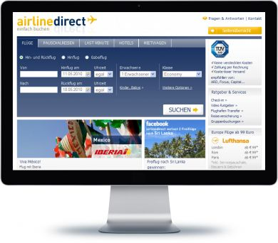 airline direct Onlineshop