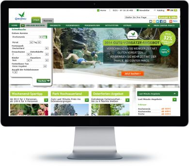 Center Parcs Onlineshop