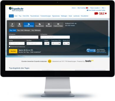 Expedia Onlineshop