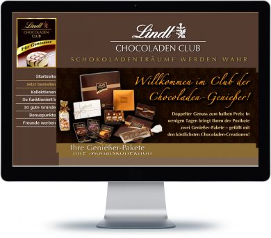 Lindt Chocoladen Club Onlineshop