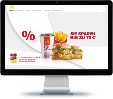 McDonalds Onlineshop