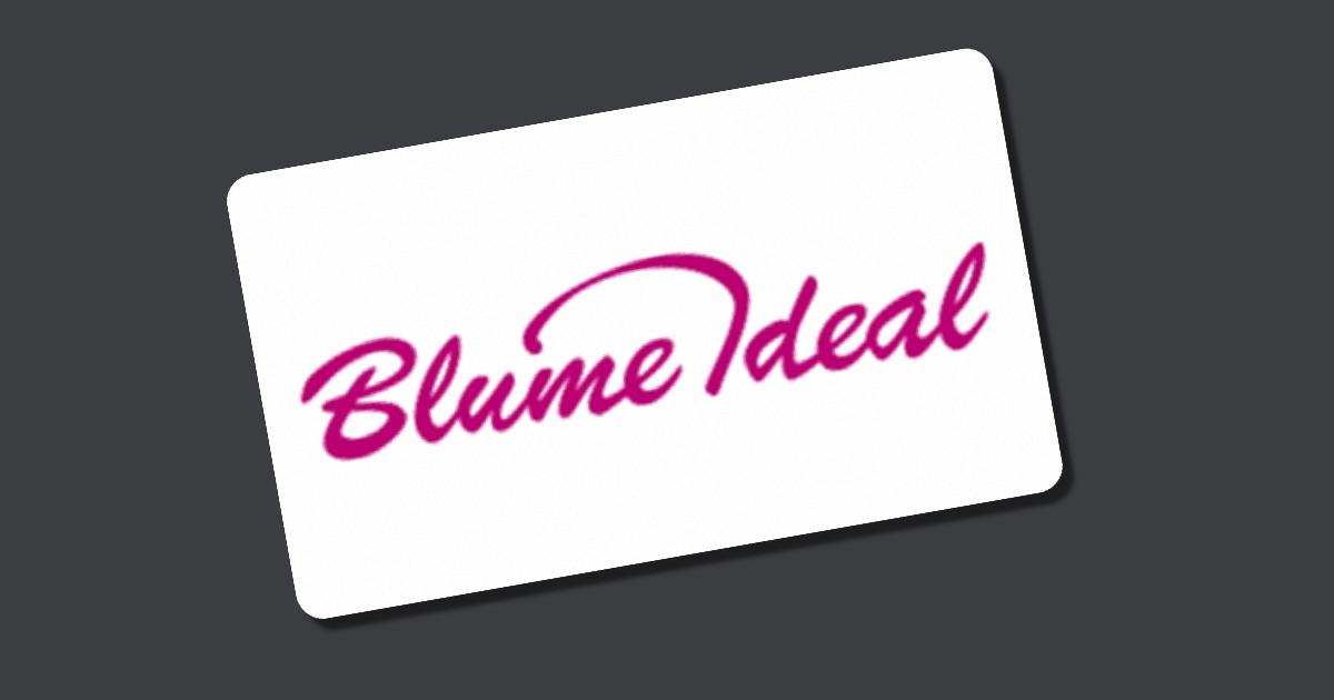 blume ideal gutscheincode